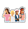 pretty young women icon image vector image