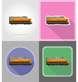 railway transport flat icons 14 vector image