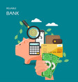 reliable bank flat style design vector image vector image