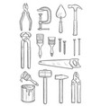 repair tool sketch for construction and carpentry vector image vector image