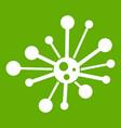 round bacteria icon green vector image vector image