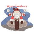santa biker vector image vector image