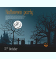 scary pumpkin on cemetery vector image vector image