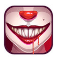 scary vampire mouth with blood vector image