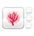 Sea summer beach and travel icon with sea coral on vector image vector image