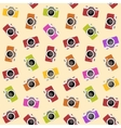 Seamless pattern with camera vector image