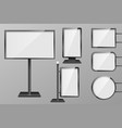 set light boxes template outdoor 3d retail vector image