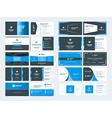 set modern creative business card templates vector image