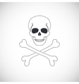 Skull and crossbones sign vector image vector image