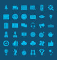 startup glyph web icons vector image vector image