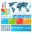 Weather forecast infographics design vector image vector image
