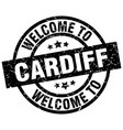 welcome to cardiff black stamp vector image vector image