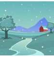 Winter Farm Landscape vector image
