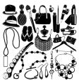 women accessorie vector image vector image
