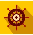 Wooden ship wheel flat icon vector image vector image