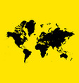 world map on yellow background vector image