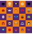 Abstract Halloween masks vector image
