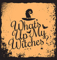 halloween vintage lettering witches concept design vector image