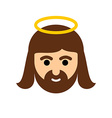 Jesus flat icon Christ is the Son of God Holy man vector image