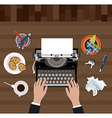 Scriptwriter workplace vector image