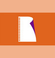 a blank white sheet paper from a notepad vector image vector image