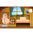 A molehog at the bedroom vector image vector image