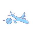airplane flight link plane transport travel icon vector image vector image