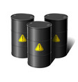 barrel with sign attention vector image