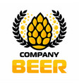 beer logo company label craft vector image