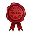 Best Price Motel Wax Seal vector image vector image