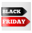 black friday tag ribbons vector image vector image
