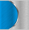 blue metal brushed texture with chrome elements vector image vector image