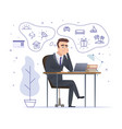 businessman dreaming successful office manager vector image