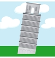 Cartoon Learning Tower of Pisa vector image