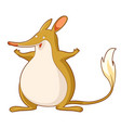 cartoon smiling bandicoot vector image vector image