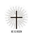 christ is risen stylish design vector image vector image