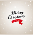 christmas greetings with merry christmas text and vector image vector image