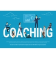Coaching concept vector image vector image