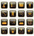 communication icon set golden series vector image vector image