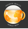 Conceptual beer label vector image vector image