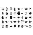 crockery icon set simple style vector image vector image