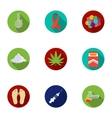 Drugs set icons in flat style Big collection of vector image vector image