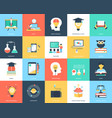 education flat icons pack vector image vector image