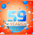 fifty nine years anniversary celebration vector image vector image