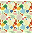 Flat Background of Pills vector image