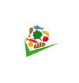 food check logo vector image vector image