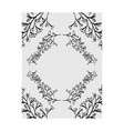 frame decorative with leafs boho style vector image