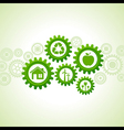 Green energy icons design concept vector image