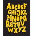 Hand drawn stone grunge font alphabet vector image vector image