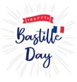 happy bastille day france lettering blue banner vector image vector image